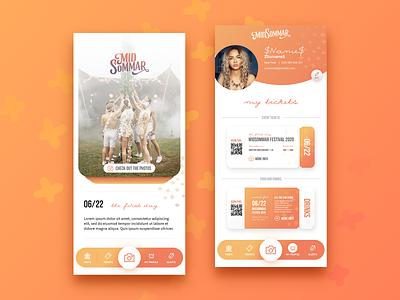 MidSommar Festival | App tickets gradient application app design ui festival app