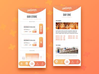 MidSommar Festival | App orange summer midsommar branding ui tickets gradient festival logo festival app festival application app design app