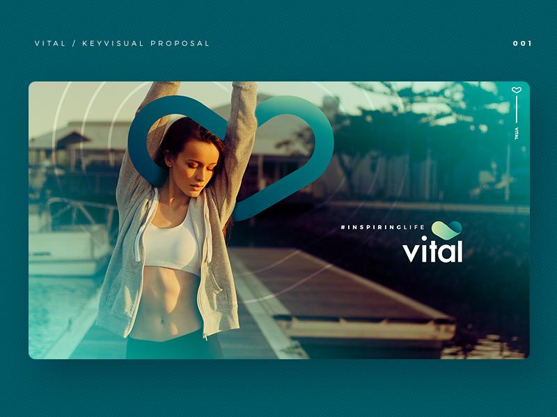 #inspiringlife heart logo app medicine vital green keyvisual health app health care design