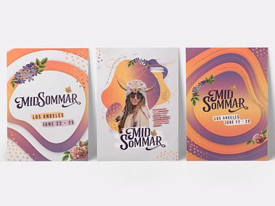 poster series illustration typography gradient branding midsommar summer festival poster festival poster design poster