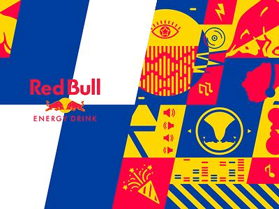 Red Bull OP | NYC gov ball 2019 branding festival illustration vector event cup gov ball red bull pattern
