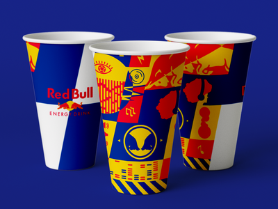 Red Bull OP | NYC gov ball 2019 branding vector red bull pattern illustration gov ball festival event cup