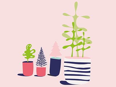 Illustration for Xmas brochure editorial illustration