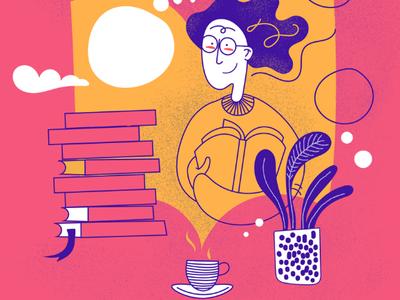 Book fair illustration #2 illustration