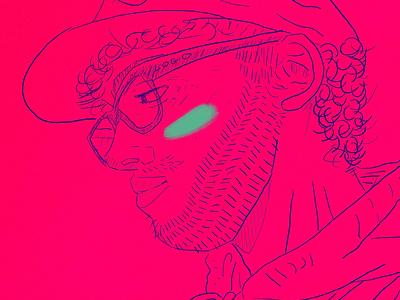 Self Study gesture doodle scribble glasses shy ftm man blush designer design art illustration