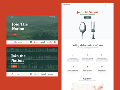 Join The Nation web homepage branding hungry foodservice food ui design ux graphicdesign art direction webdesign typography uidesign