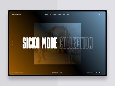 Travis Scott uxdesign concept ux web webdesign art direction typography ui uidesign design