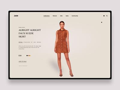 Jade ux ui ecommerce web webdesign concept art direction typography uidesign design