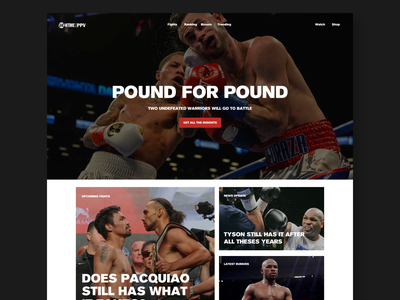 Boxing-Showtime boxing art direction concept uxdesign ux web webdesign typography uidesign design