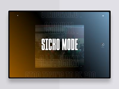 Travis Scott Song Selector concept web webdesign art direction typography ui uidesign design