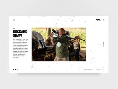 Hobbs & Shaw webdesign graphicdesign concept web art direction ui typography uidesign design