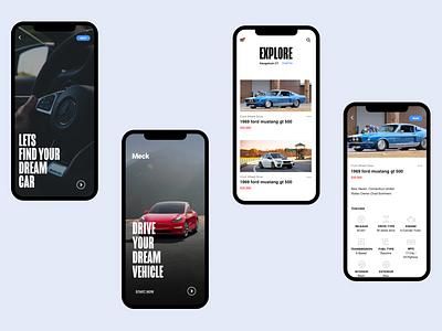 Car App app ux uxdesign art direction typography ui uidesign design