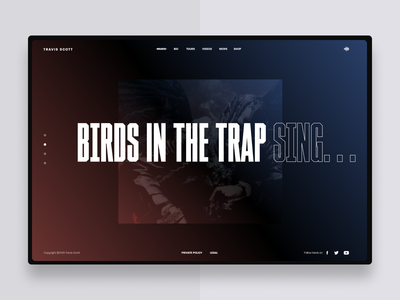 Travis Scott album selector uxdesign concept ux web webdesign art direction ui typography uidesign design