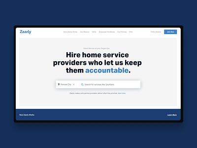 Zaarly Redesign ux web ui uxdesign webdesign concept art direction typography uidesign design