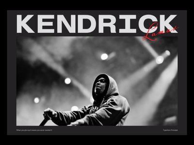 kendrick Lamar ui dark branding graphicdesign webdesign uidesign web art direction typography design