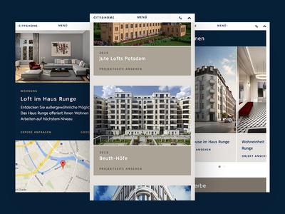 Mobile Website for City & Home