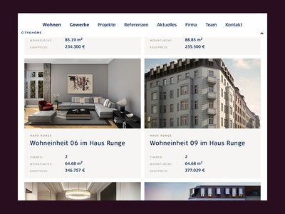 Tablet View of City & Home Website