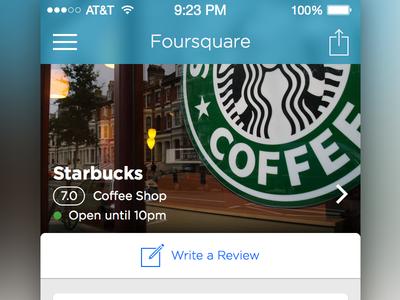 Foursquare iOS Redesign
