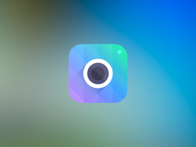 Camera Icon camera icon ios 7 app iphone retina light gradient purple blue green