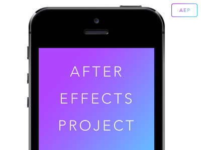 iPhone After Effects Project Mockup iphone 5s mockup after effects aep ios gradient free freebie