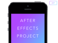 iPhone After Effects Project Mockup