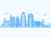 Line Art Illustration — Charlotte, NC