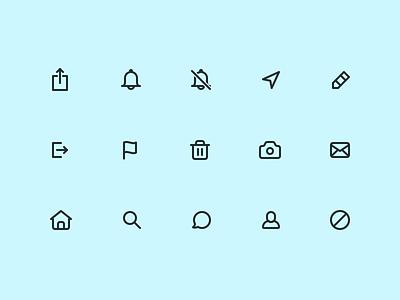 JOMO Icon Set 1 picto glyph iconography set icon app ios
