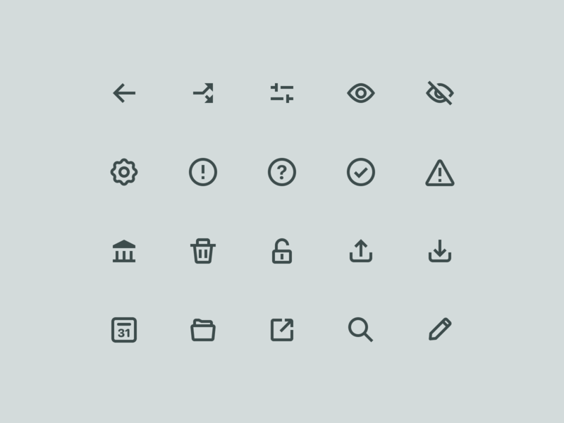 Outline System Icon Set outline stroke android ios iconography icon set grid 24 8 ui app mobile icons system