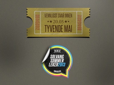 RSVP ticket  rsvp ticket sticker logo event inspired norwegian adobe photoshop illustrator old-school vintage
