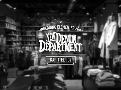 Denim Department jeans denim retail clothes typo typography bw black and white store sign