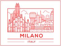 Milano milano italy illustrator vector city office dropbox rebound milan drawing