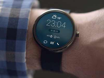 Watchface widgets notifications clock weather watch face watch android