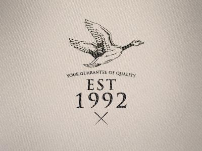 Textile emblem emblem textile cotton clothing logo badge typo typography duck bird quality branding brand print
