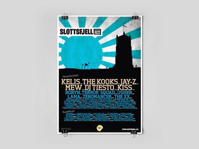 Slottsfjell Poster poster concert festival paper sun mountain slottsfjell school project cyan japan norway norge tønsberg