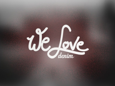 We love denim logo freehand typo typography denim oslo norway brush love heart