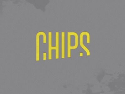 Chips logo logo type magazine typo yellow logotype symbol chips
