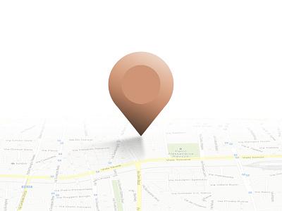 Pin pin map ui design gradient illustrator photoshop practice training mapping