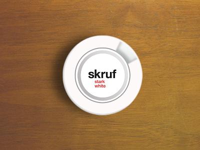 Skruf Boks snus skruf sweden scandinavia package 3d practise fun design