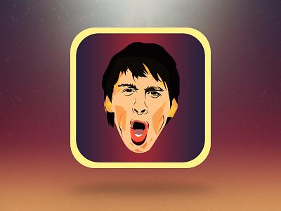 Messi iPhone icon messi lionel iphone icon ios sketch app apple ipad illustration illustrator psd sport drawing adobe design orange barca barcelona fcb football soccer