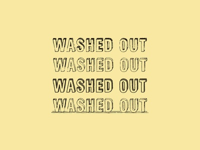 Commercial Arts : Washed Out type lettering commercial arts music washed out stones throw