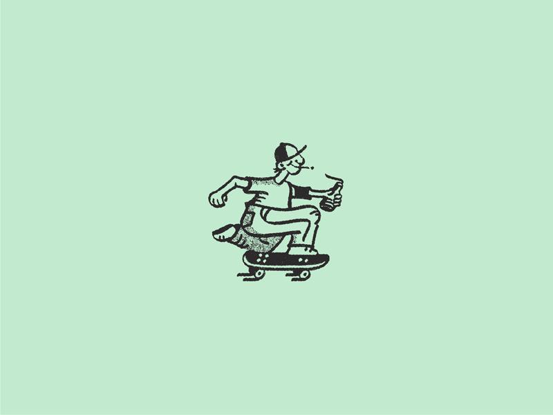 The Commercial Arts : The Goodtimer skateboarding low impact illustration illustration commercial arts meditationsss