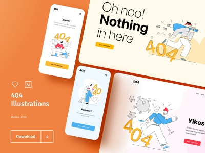 404 illustrations - freebie sport covid covid19 health fintech finance design education ecommerce character business hand drawn material design flat design web app mobile app 404 freebies illustration graphic design