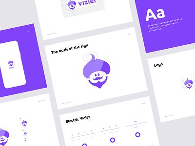 Vizier logo character illustration portfolio tool finance brand mobile mobile app branding ui logo logo design