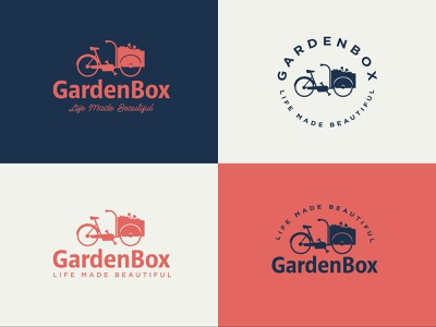 GardenBox Alt 3 garden flower bike branding logo