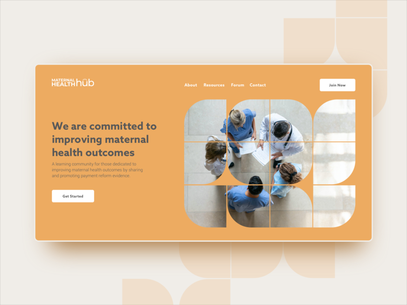 MHH Homepage Concept maternal creamsicle ui web design web