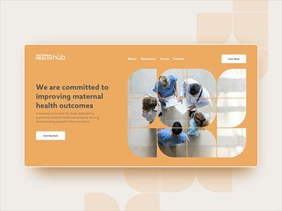 MHH Homepage Concept maternal creamsicle ui web design web