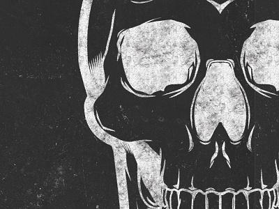 Demolition Skull black death metal illustration skull