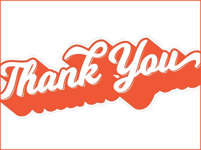 Thx (wip) orange thank you wip script typography type