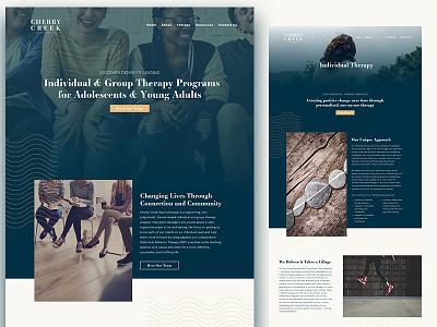 Cherry Creek Psy Website contrast teen full screen overlap overlay work website web
