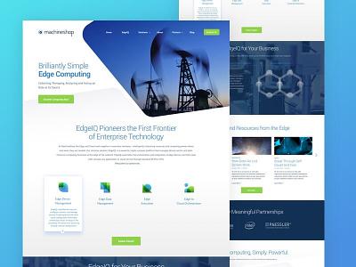 MachineShop shapes bright blue tech clean edge computing website design website